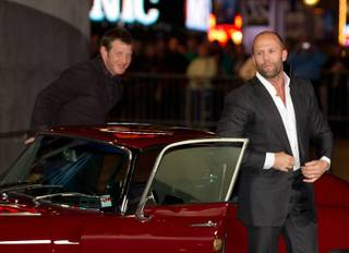 Jason Flemyng and Jason Statham at The Mechanic premiere at Planet Hollywood on Jan. 26, 2011.