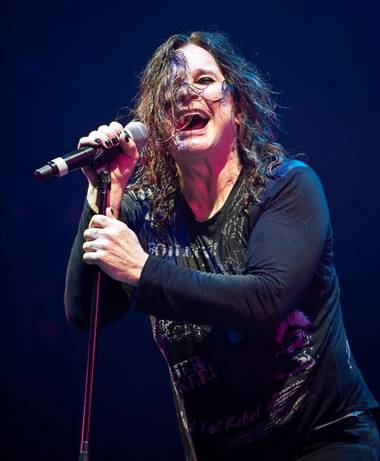 Ozzy Osbourne and Slash in concert at Mandalay Bay Events Center on Jan. 28, 2011.