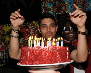 Wilmer Valderrama's 31st birthday at Vanity at the Hard Rock Hotel on Jan. 29, 2011.