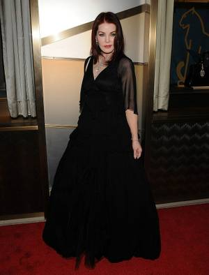 Priscilla Presley at the Cartier VIP reception at MGM CityCenter's Crystals for Nevada Ballet Theatre's 27th Annual Black and White Ball on Jan. 29, 2011. Presley was honored as NBT's Woman of the Year.