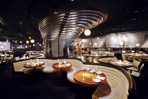 An interior view of STK at the Cosmopolitan.
