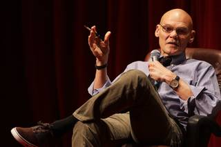 Political strategist James Carville speaks during a Barrick Lecture Series with former Florida Gov. Jeb Bush at UNLV Monday, January 31, 2011. Jon Ralston moderated the discussion.