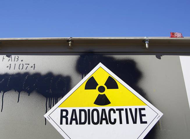 A waste contailer is shown in the Area 5 Radioactive Waste Management Site of the Nevada National Security Site (N2S2), previously the Nevada Test Site, about 65 miles northwest of Las Vegas February 1, 2011.