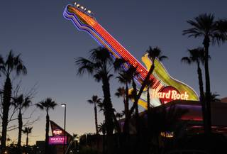 A view of the Hard Rock hotel-casino at Paradise Road and Harmon Avenue on Tuesday, Jan. 25, 2011.