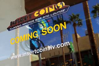 The gutted interior of a Fremont Street storefront is being transformed into an arcade bar and lounge called Insert Coin(s), shown Thursday, Feb. 3, 2011.