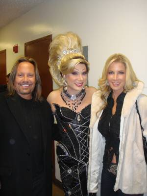 Vince Neil, Frank Marino and Alicia Jacobs at Imperial Palace on Feb. 1, 2011.