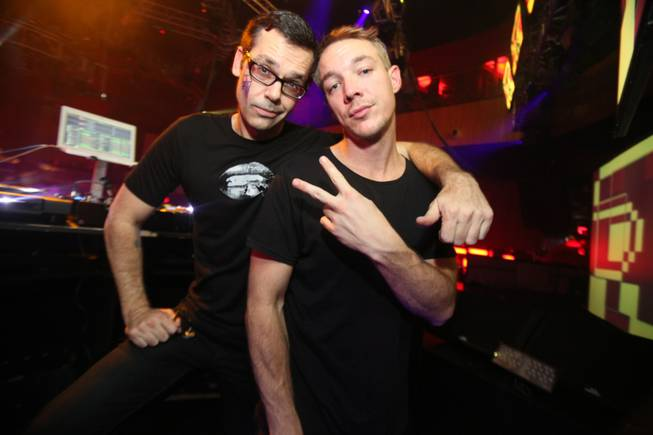 DJs Dave Fogg and Diplo at Rain in the Palms.