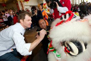 Chef Bobby Flay celebrates Chinese New Year at Caesars Palace on Feb. 6, 2011.