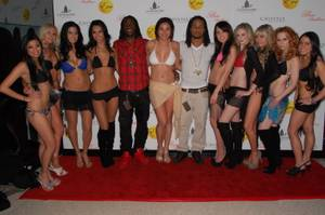 Jamaal Charles, Earl Thomas and Bikini Bowl models at Eve.