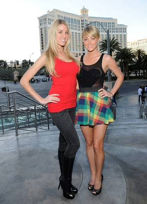 Heather Rae and Sara Underwood at Sammy Hagar's Cabo Wabo Cantina at Planet Hollywood.