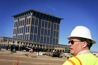 The new North Las Vegas City Hall building under construction Tuesday, February 8, 2011. The building is expected to be open to public by fall 2011.