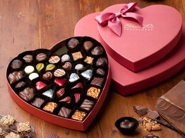 The Heart Box Collection from Ethel M's Chocolates.