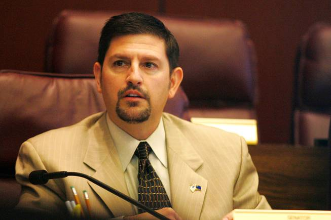 Sen. Mark Manendo asks a question during a meeting of the Senate Select Committee on Economic Growth and Employment on the third day of the 2011 legislative session Feb. 9, 2011, in Carson City.
