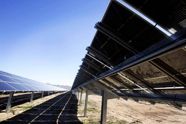 Copper Mountain Solar One, a thin film photovoltaic solar facility off U.S. 95 in Boulder City seen Thursday, February 10, 2011.