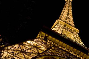 The Eiffel Tower restaurant at Paris is one of many romantic Las Vegas locations where men will be popping the question on Valentine's Day. The restaurant has 15 proposals scheduled for the holiday.