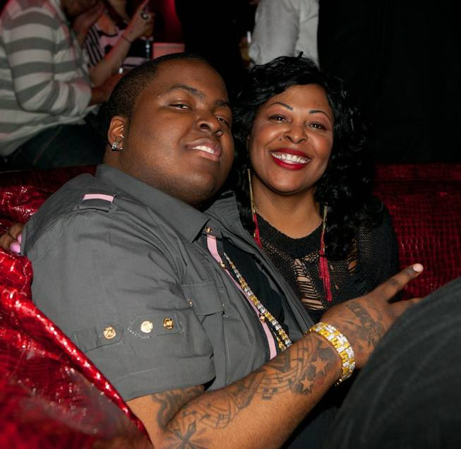 Sean Kingston, with his mother Janice Turner, celebrates his 21st birthday at Tryst at the Wynn on Feb. 11, 2011.
