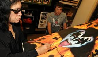 A meet-and-greet with KISS legend Gene Simmons.