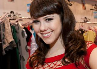 Claire Sinclair at the Bettie Page Clothing Booth at MAGIC at the Las Vegas Convention Center on Feb. 14, 2011.