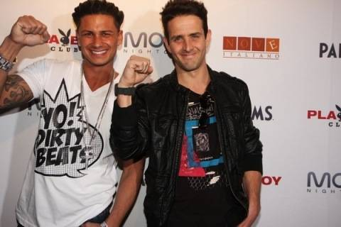 Pauly D and Joe McIntyre.