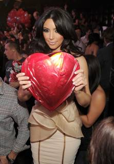 Kim Kardashian at Marquee on Valentine's Day