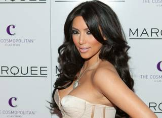 Kim Kardashian hosts Valentine's Day at Marquee at The Cosmopolitan on Feb. 14, 2011.