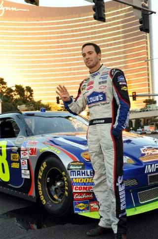 NASCAR's first-ever victory lap during Champions Week on the Las Vegas Strip on Dec. 3, 2009.