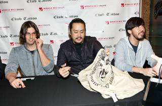 Linkin Park's meet-and greet at Club Tattoo Shop in The Miracle Mile Shops at Planet Hollywood on Feb. 19, 2011.
