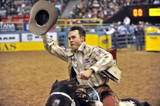 The opening round of the 2009 Wrangler National Finals Rodeo at the Thomas & Mack Center on Dec. 3, 2009.