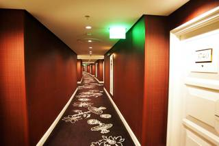 The newly designed hallways at Wynn Las Vegas Wednesday, February 23, 2011.