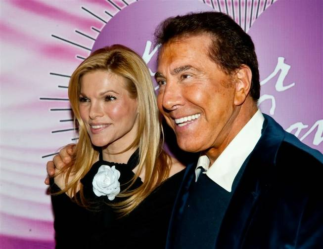 Andrea Hissom and Steve Wynn on the 2011 Keep Memory Alive Power of Love Gala red carpet at the Bellagio on Feb. 26, 2011.