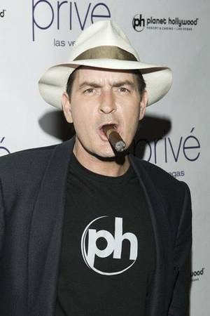 Charlie Sheen, shown in 2009 during an event at the now-defunct Prive at Planet Hollywood.