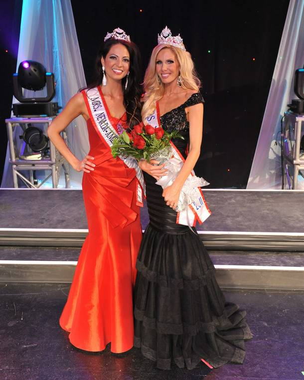 2010 Mrs. Nevada America Dr. Susie Monahan and 2011 Mrs. Nevada America Amanda Kouretas.