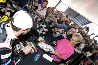 Autograph sessions at Las Vegas Motor Speedway on March 3, 2011.