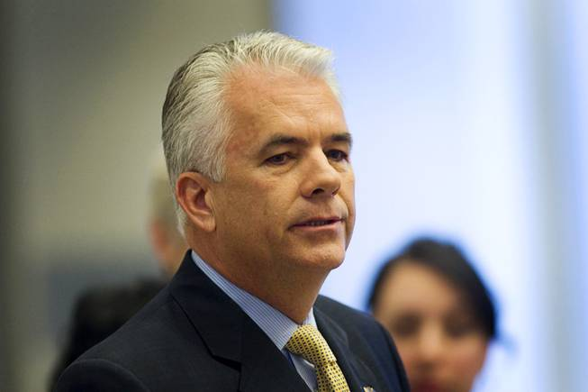 John Ensign  announces he will not seek another term during a news conference at the Lloyd George Federal Building in Las Vegas on Monday, March 7, 2011.