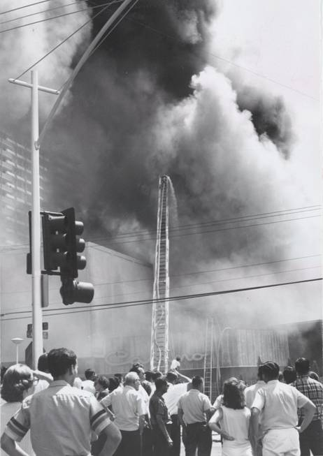 The fire at the Sahara Hotel on Aug. 25, 1964.