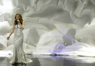 Singer Celine Dion performs during opening night at the Colosseum at Caesars Palace on March 15, 2011. The performance is the beginning of a three-year residency at the venue.