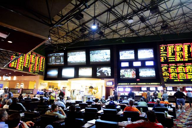 The Race and Sports Superbook at the Las Vegas Hilton is seen on Tuesday, March 15, 2011.