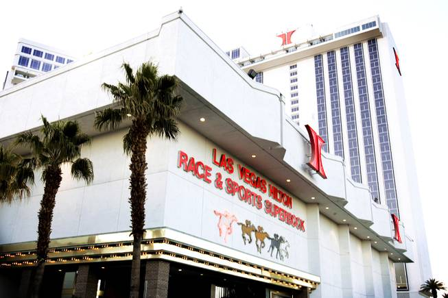 Entrance to the Race and Sports SuperBook at the Las Vegas Hilton Tuesday, March 15, 2011.