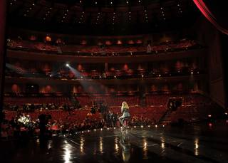 Celine Dion's post-show news conference at The Colosseum at Caesars Palace on March 15, 2011.