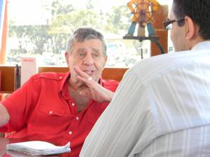 Jerry Lewis, interviewed on his yacht in October.