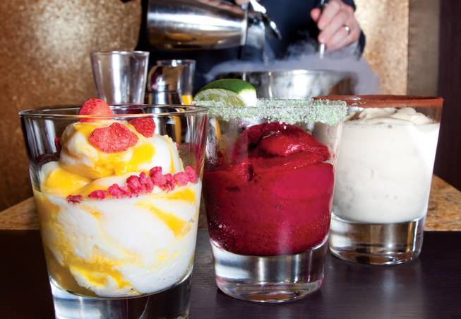 Hubert Keller's Fleur at Mandalay Bay spices up mixology with liquid nitrogen.