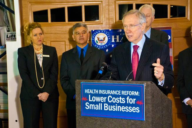 Sen. Harry Reid talks about the benefits offered to small business as a result of the health insurance reform, March 21, 2011
