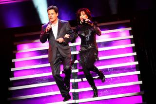 Donny and Marie Osmond perform their 500 show at the Flamingo Wednesday, March 23, 2011.
