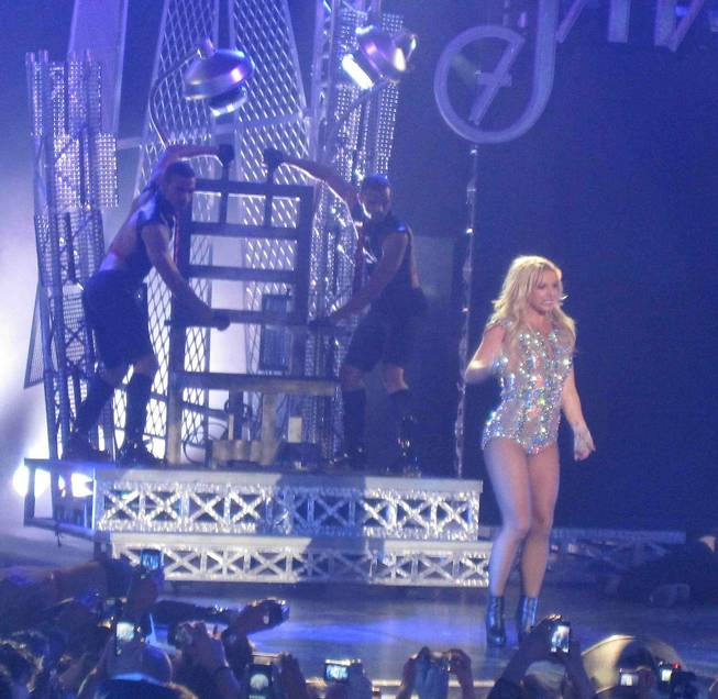 Britney Spears at Rain at the Palms on March 25, 2011.