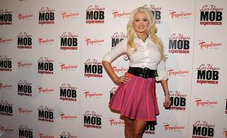Holly Madison at the Las Vegas Mob Experience VIP grand opening at the Tropicana on March 29, 2011.