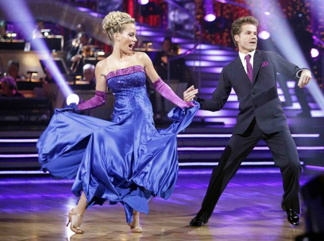 Kendra Wilkinson and Louis Van Amstel on <em>Dancing With the Stars</em> on March 28, 2011.