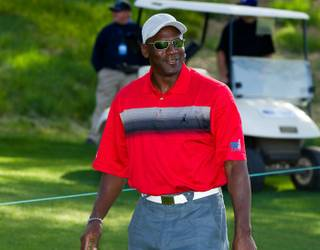Michael Jordan at the opening press conference of the 10th Annual Michael Jordan Celebrity Invitational at Shadow Creek Golf Course in Las Vegas on March 30, 2011.