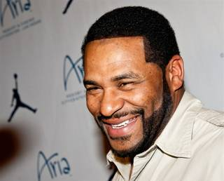 Jerome Bettis on the red carpet for the Michael Jordan Celebrity Invitational welcome party at Haze at Aria on March 30, 2011.