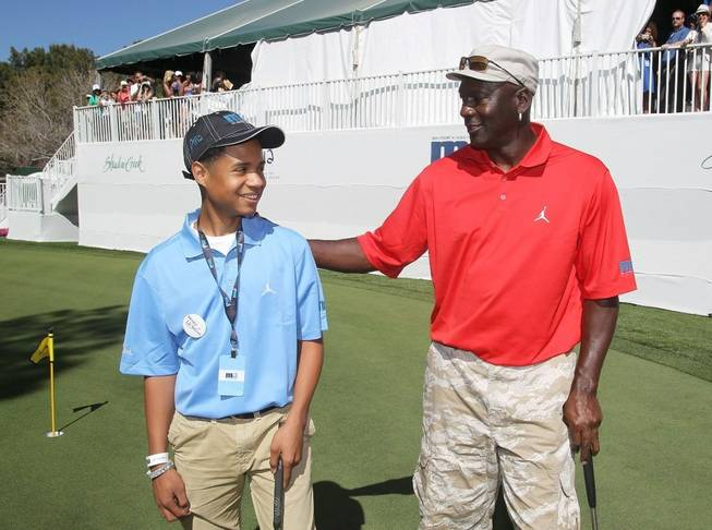 Marc Garcia and Michael Jordan at the 2011 Michael Jordan Celebrity Invitational.