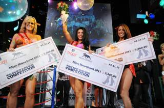 Three Miss Knockout winners are named at Studio 54 at MGM Grand on March 31, 2011.